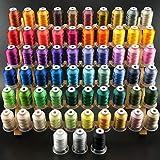 New brothread 63 Brother Farben Polyester Maschinen Stickgarn 500M (550Y) für Brother/Babylock/Janome/Singer/Kenmore Stickereimaschine