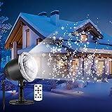 LED Projektionslampe Weihnachten Schneeflocke Projektor Lichter Wasserdicht IP 65 mit Timing Fernbedienung Stimmungsbeleuchtung Innen-/Außenbeleuchtung für Party Hochzeit Garten Deko