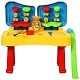 COSTWAY 2-in-1 Sand- und Wasserspieltisch, Sandkastentisch für Kinder, Kinderspieltisch, Strandspielzeug-Set, Sandkasten Spielzeug für den Innen- und Außenbereich inkl. Zubehör (Modell 2 / 31-teilig)