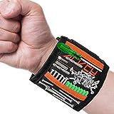 Magnetisches Armband - ACVCY Magnetischer Werkzeuggürtel mit 15 Starken Magneten für Elektriker,Handwerker,Heimwerker,Handwerker Geschenke Magnetarmband Werkzeuge zum Halten Schrauben/Bohrer/Nägel