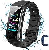 BTMAGIC Activity Fitness Tracker Uhr mit Herzfrequenzmesser, IP68 Wasserdichtes Smart Fitness Band mit Schrittzähler, Kalorienzähler, Schrittzähler Smart Uhr für Kinder, Frauen und Männer