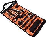 Black+Decker Rolltasche (mit Autowerkzeugzubehör, Taschenlampe, Schrauberklingen, Bits, Handwerkzeuge) A7144
