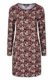 Mountain Warehouse Bedrucktes Damenkleid mit Schlüsselblumenmotiv - Strandkleid aus 100% Baumwolle, leicht, atmungsaktiv - ideal für Ausflüge, Picknicks, als Geschenk Grau 32 DE (34 EU)
