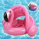 Schwimmring Flamingo,Flamingo Aufblasbarer Schwimmring,Baby Schwimmring Aufblasbarer,Baby schwimmring mit Sonnenschutz,babyschwimmen,Baby schwimmtrainer,aufblasbarer schwimmreifen