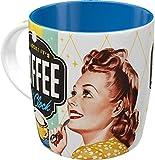Nostalgic-Art Retro Kaffee-Becher - Say it 50's - Coffee O' Clock, Lustige große Retro Tasse mit Spruch, Geschenk-Idee für Vintage-Fans, 330 ml