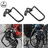 Mein HERZ 2 Stück Schaltwerkschutz Fahrrad Schaltwerk Schutz Schutzbügel Eisen Schutzfolien, Fahrradschaltung Sturzschutz Stahl für Fahrrad Mountainbikes, Rennräder, Falträde Schwarz