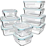 GENICOOK Glas-Frischhaltedose Set/Vorratsdosen Glas mit Deckel/Meal prep Boxen/Aufbewahrungsbehälter/Lebensmittelbehälter - Geschirr für mikrowelle-LFGB-zugelassen für Home Küche(9er)