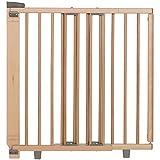 Geuther - Treppenschutzgitter ausziehbar 2734+, für Kinder/Hunde, Türschutzgitter zum bohren, Holz, 86 - 133 cm, TÜV geprüft
