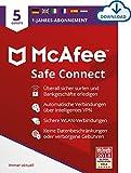 McAfee | SafeConnect - VPN | 5 Gerät | 1 Benutzer | 12 Monate | PC/Mac | Aktivierungscode per Email