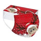 Qiamay 50 Stück Einweg Mundschutz,3 lagig Mund-Nasen-Schutz,Einfarbig vermanschen/Weihnachten/das Erntedankfest Bandanas, Atmungsaktiv Mund-Nasen Bedeckung Halstuch Schals für Erwachsene (V-50pc)