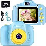 vatenick Kinder Digital Kamera Spielzeug Kleinkind Kamera Spielzeug 2 Zoll HD-Bildschirm 1080P 32 GB TF-Karte Jungen und Mädchen Geschenke Spielzeug für 3 bis 12 Jahre alte (blau)