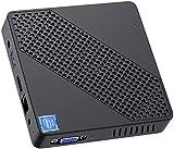 Mini PC Lüfterlos Intel Celeron N4020 (bis zu 2,8 GHz) 4GB DDR4/64GB eMMC Mini-Desktop-Computer Windows 10 HDMI- und VGA, 2,4/5,8 G WiFi BT4.2 3xUSB3.0,M.2 2242 SSD,Auto Power On…
