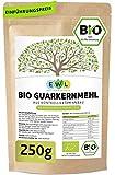 Bio Guarkernmehl Guar Gum 250g Bio Guarkern Mehl aus kontrolliertem Anbau Guarkernmehl E412 Glutenfrei Bindemittel Verdickungsmittel
