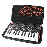 Khanka Hart Tasche Schutzhülle Für Akai Professional MPK Mini MKII / Mini Play Kompakter USB MIDI Keyboard & Pad Controller.(Schwarz)