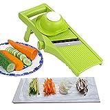 Voarge Manuelle Essen Slicer, Gemüsehobel 3 in 1 Gemüseschneider Profi Gemüsereibe Kartoffelschneider, justierbares Stärke Kartoffel Karotten Gemüse Scheiben Werkzeug