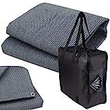 Vorzeltteppich + 6 Heringe + Tasche - 200x200 GRAU-BLAU - Zeltteppich Zeltunterlage Outdoor Camping Vorzelt Campingteppich Vorzeltboden