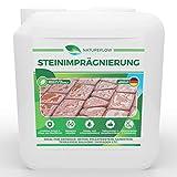 Steinimprägnierung außen - Tiefenwirksame Steinversiegelung als Schutz vor Grünbelägen - Ungiftig, Geruchsneutral - Premium Pflege für Beton, Pflasterstein und Mehr - Ergiebige 5L für 70-100m²