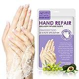 ALIVER 5 Pairs Hands Moisturizing Gloves, Hand Skin Repair Renew Mask,Cracked Hands Intense Skin Nutrition Hand Cream Mask