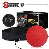 Xnature Boxen Training Ball Reflex Fightball Speed Fitness Punch Boxing Ball mit Kopfband, Trainingsgerät Speedball für Boxtraining (Rot schwarz)