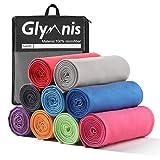 Glymnis Mikrofaser Handtücher schnelltrocknend Sporthandtuch Strandhandtuch Viele Größen und Farben saugfähig weich für Sport Yoga Sauna Fitness und Strand (Grau, 120x60cm)