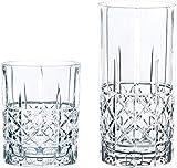 Spiegelau & Nachtmann, 12-teiliges Bargläser-Set, Je 6 Whisky- und Londrink-Gläser, Kristallglas, 445/345 ml, Highland, 100719