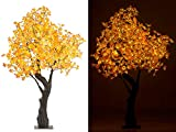 Luminea LED Baum: LED-Deko-Ahornbaum, 576 beleuchtete Herbstblättern, 200 cm, für innen (LED Deko Bäume)