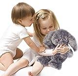 Kufl Wärmestofftier Hase für Babys und Kinder – Wärmekissen Kuscheltier für Mikrowelle in grau Wärmetier mit Naturfüllung