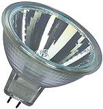 Osram 10-er Set Decostar EEK B 51s 12 Volt 20 Watt Sockel Gu5,3 36 Halogenlampe mit Kaltlichtspiegelreflektor und Abdeckscheibe, Durchmesser 51 mm 44860WFL