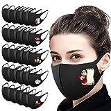 25 Stück Weihnachten Mund-Nasen-Schutzmask mit Motive,Christmas Waschbare Atmungsaktiv Schildmaske, Multifunktional Wiederverwendbare Staubmaske (A, 25PC)