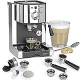 BEEM ESPRESSO-PERFECT   Espresso-Siebträgermaschine - 20 bar   BASIC SELECTION   Silber   Integrierte Milchschaumdüse