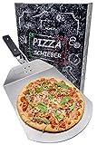 Momex Pizzaschieber für den Grill & Ofen, Pizzaschaufel mit praktischen Einklapp-Griff zum einfachen Verstauen