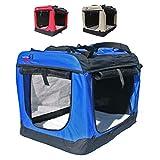 Hundetransportbox faltbar Transportbox für Hunde Hundebox Auto - Dogi Kennel - 6 Größen - 3 Farben (XL (81 x 58 x 58 cm), Blau)