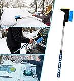 Faminess Auto Eiskratzer Eisschaber Schneebürste Abnehmbar Schnee Pinsel und Schneebesen Eiskratzer Automatische Eisschaber für Autos Truck SUV Windschutzscheibe