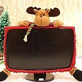 Hanbaili Bildschirmabdeckung Cartoon Monitorabdeckung with Stoff Weihnachten Geschenk