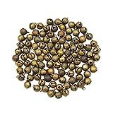 YNuth 100x Glöckchen Schellen Anhänger Bronze Handwerk Vintage Durchmesser 8mm