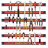 Giantex 6X Magnetleiste Set, 46 cm Magnet Werkzeugleiste Werkzeughalter Werkzeug Halterung, Magnetische Werkzeughalter Leiste Magnetschiene 10kg Tragkraft, Wandhalter Magnet für Werkstatt