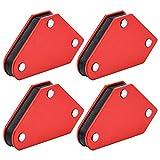 SANTOO 4 Stk Magnetische Schweißwinkel Set Schweißmagnet Winkelmagnet 45 ° 90 ° 135 ° Magnetwinkel Halter und Positionierer beim Schweißen Löten Markieren