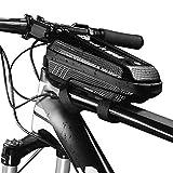 Lixada Fahrradrahmen-Tasche, regendicht, Fahrradtasche, Fahrrad-Rahmen, mit Doppelreißverschluss