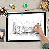 IMAGE Leuchttisch A3 LED Licht Pad magnetischer Leuchtkasten dimmbares Zeichenbrett mit USB Kabel Copy Board zum Zeichnen Malen Skizzieren Animation Kopieren