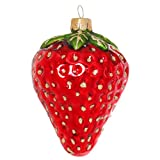 Sikora BS329 Erdbeere Christbaumschmuck Glas Figur Weihnachtsbaum Anhänger