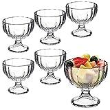 Bormioli Rocco, Becher für Eiscreme, Desserts, Vorspeisen, Cocktails, 6 Stück, glas, Alaska Ribbed Design