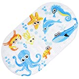 Rutschfest Badewannenmatte für Kinder & Babys mit Starken Saugnäpfen für Sicherheit, 69x39cm| Schimmelbeständig & Antibakterielles| Hochwertiges PVC & Anti-Rutsch Gummi für Badezimmerboden Dusche.