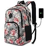 YAMTION Schulranzen Mädchen,Tagesrucksack Frauen Schultasche Damen Rucksack mit Laptopfach für Schule Uni Ausflug Büro