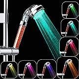 Rovtop Led Duschkopf, Led Duschkopf mit Farbwechsel, Keine Stromversorgung, Hochdruckwassereinsparung, 7 Farben ändern Sich Zufällig