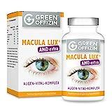 MACULA LUX AMD Extra Augen-Vitamine Kapseln Hochdosiert bei Makuladegeneration - Sehkraft Augen-Schutz Formel mit Lutein, Zeaxanthin, Lycopin, Vitamin A, C, B, Zink, DHA (120 Kapseln vegan)