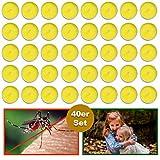 esto24® 40er Set Citronella Duftkerzen Zitrone Teelichter Outdoor Anti Mücken und Insekten Ideal für Balkon, Terrasse, Garten und Camping