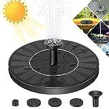 GESPERT Pond Fountains Solarbrunnen Solar Fountain mit 4 Effekten mit einkristalliner Solarpumpe mit für Garten, Vogelbad, Teich, Fischbehälter