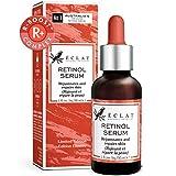 Retinol Serum 2,5% Konzentrat für empfindliche Haut - Reines Retinol-Serum 2,5% Wirkstoff - Hochwirksames Anti-Aging Serum für Gesicht mit Hyaluronsäure und Zaubernuss in Bio Aloe Vera und Jojobaöl