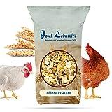 Leimüller Hühnerfutter 25 Kg | Körnerfutter für Hühner GVO - Gentechnik frei | 6-Korn Geflügelfutter mehrfach gereinigt und staubfrei