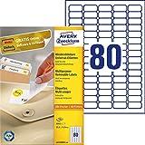 AVERY Zweckform L4732REV-100 Universal Etiketten (8.000 Klebeetiketten, 35,6x16,9mm auf A4, wieder rückstandsfrei ablösbar/abziehbar, individuell bedruckbare, selbstklebende Aufkleber) 100 Blatt, weiß